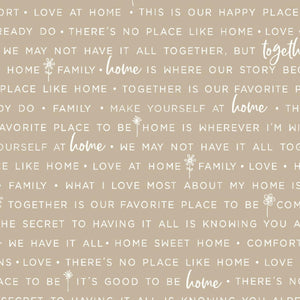 Make Yourself At Home: Home Phrases Taupe