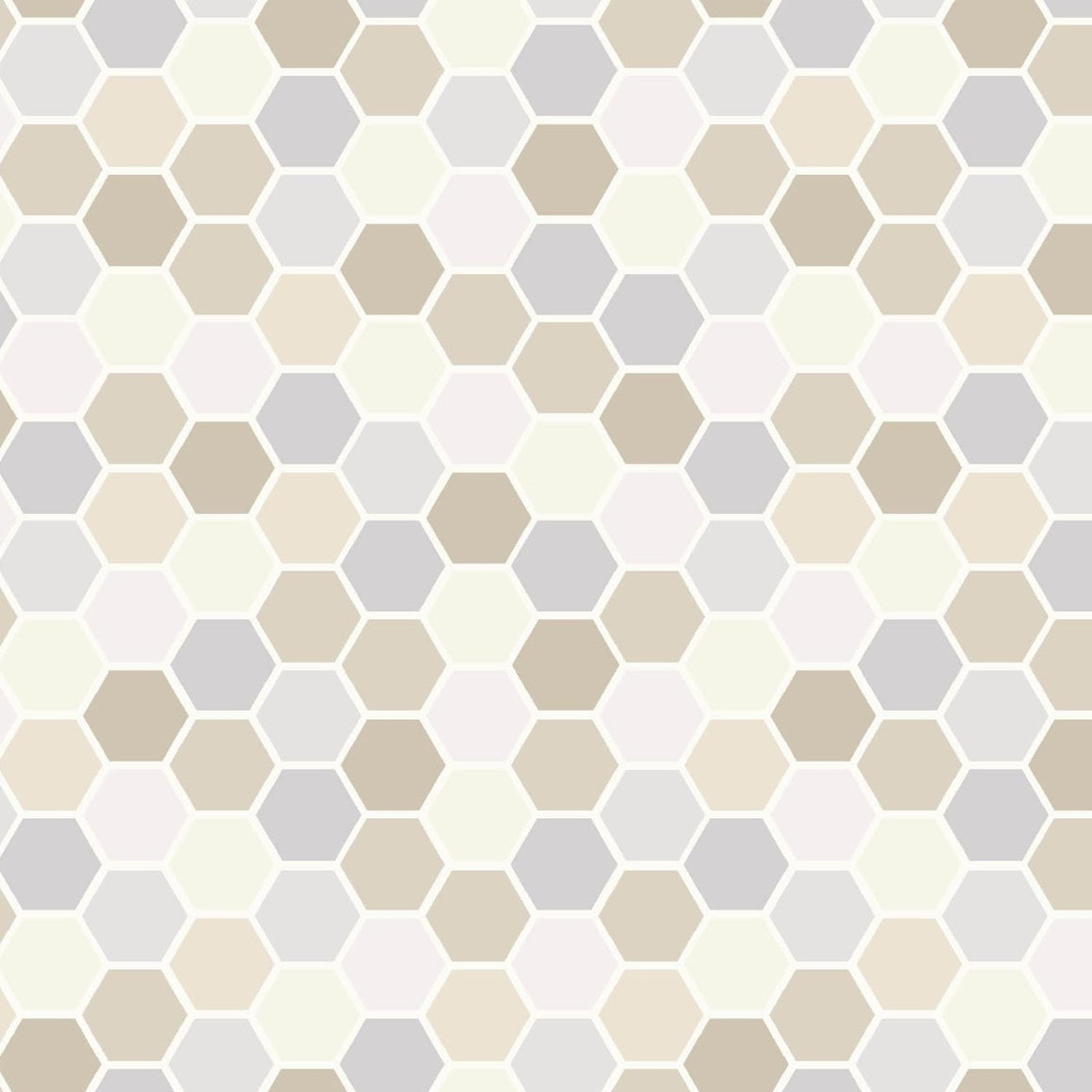 Make Yourself At Home: Mini Hexagons Taupe/Gray