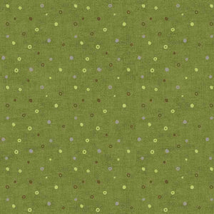 Mix Melange by Stof: Circle Dot Dark Lime