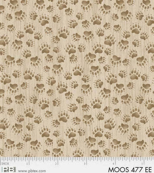 Moose Meadows Flannel: Bear Prints F477EE