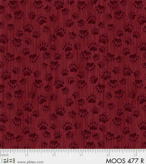 Moose Meadows Flannel: Bear Prints F477R