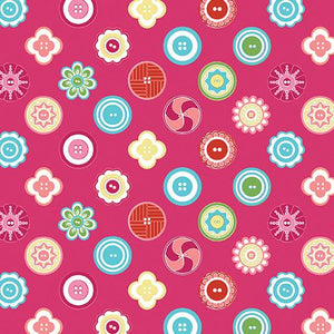 My Happy Place Squared Buttons Fuchsia