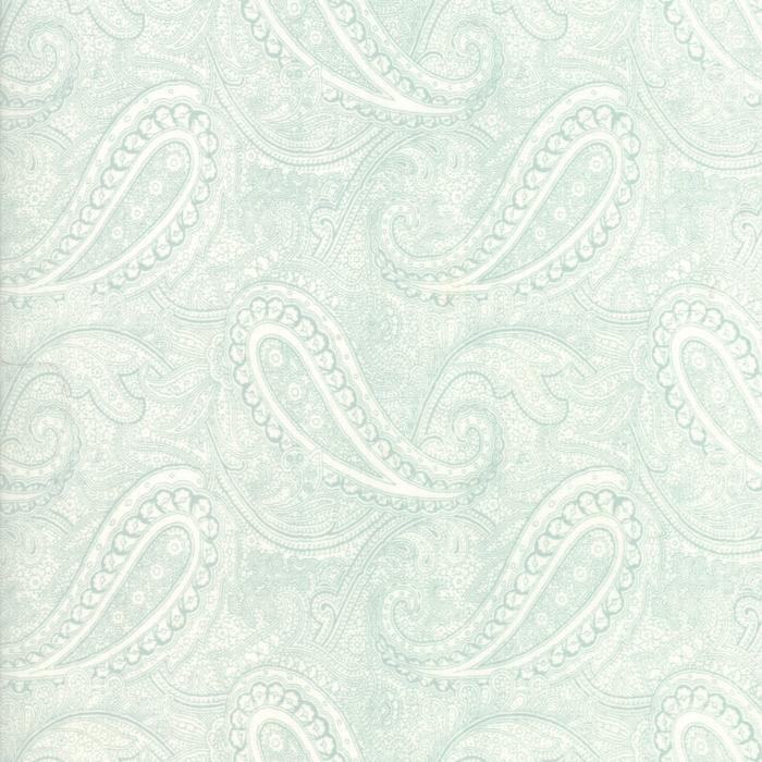 Porcelain: Etched Paisley Light Green