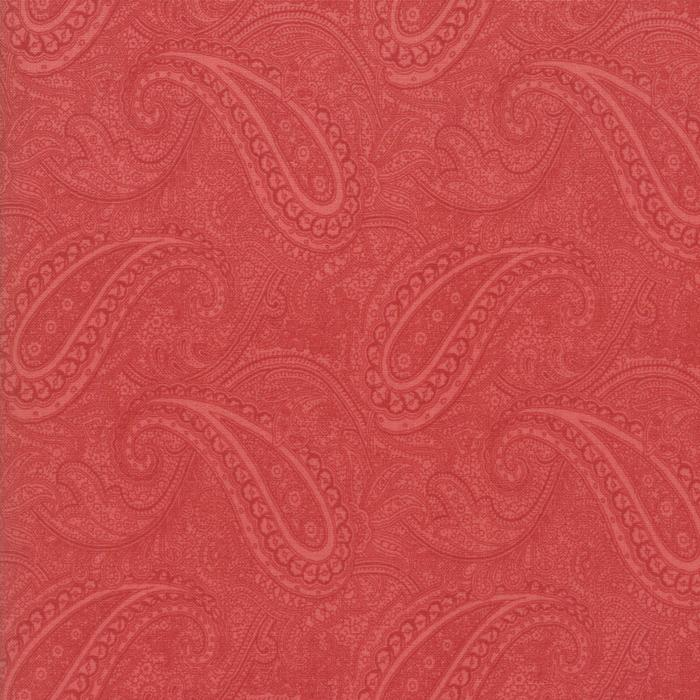 Porcelain: Etched Paisley Red