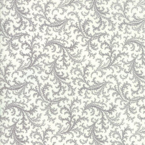 Porcelain: Plumes Silver Grey
