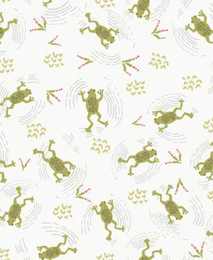 Quilt MN 2018: Frogs Light Cream