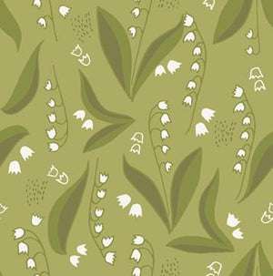 Quilt MN 2018: Lily of the Valley Dark Olive