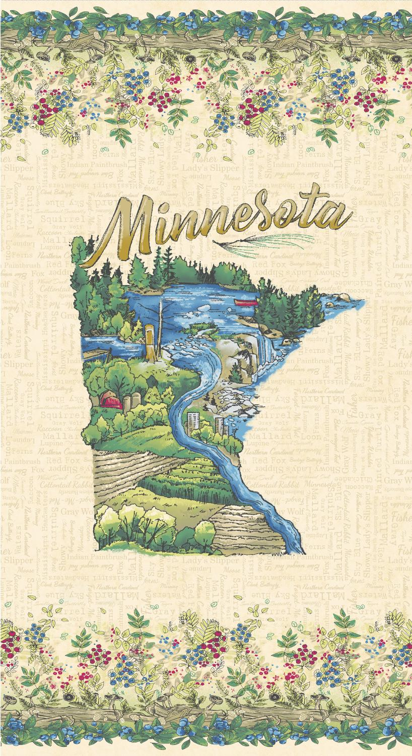 Quilt Minnesota 2019: Minnesota Panel Light Caramel