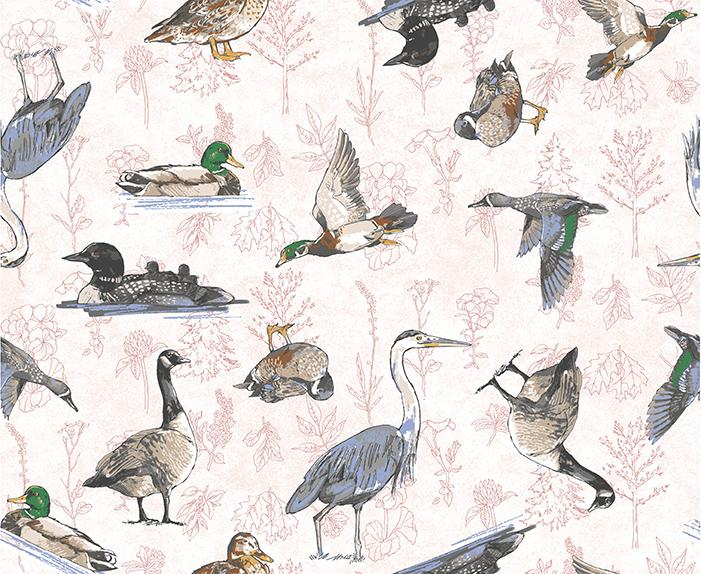 Quilt Minnesota 2019: Waterfowl White