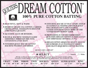 Quilters Dream Select Nat Cotton Twin