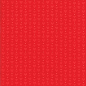 REDiculously In Love: Hearts Dots Tonal Red