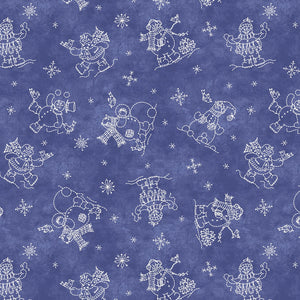 Roly-Poly Snowman: Snowmen Fun Navy Blue