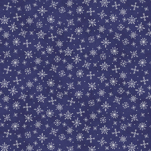 Roly-Poly Snowman: Stitched Flowers Deep Navy