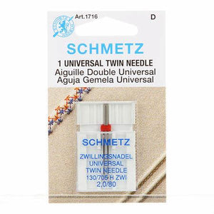 Schmetz Twin Machine Needle Size 2.0mm/80 1ct