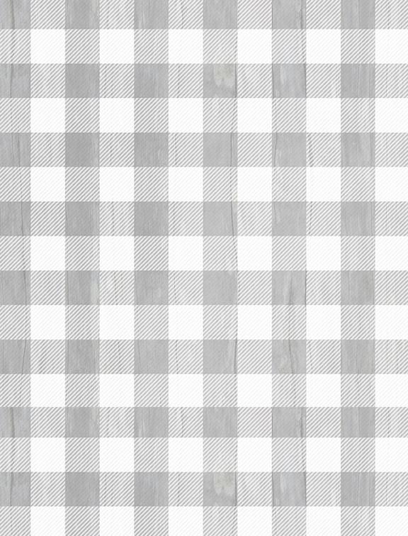 Snowy Wishes: Buffalo Check Gray