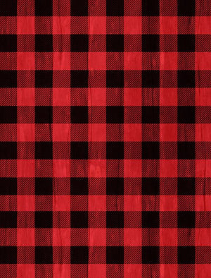 Snowy Wishes: Buffalo Check Red