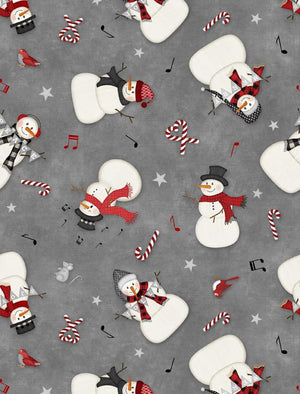 Snowy Wishes: Snowman Toss Gray