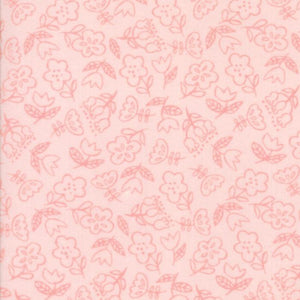 Soft & Sweet Flannel: Dancing Flowers Lt Pink