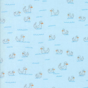 Soft & Sweet Flannel: Duck Duck Lt Blue
