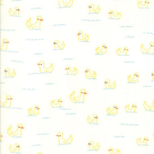 Soft & Sweet Flannel: Duck Duck White