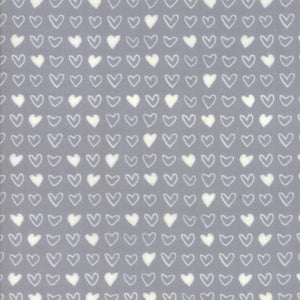 Soft & Sweet Flannel: I Heart You Grey