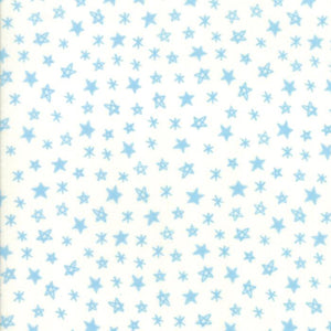 Soft & Sweet Flannel: Star Light Star Bright Blue Cream