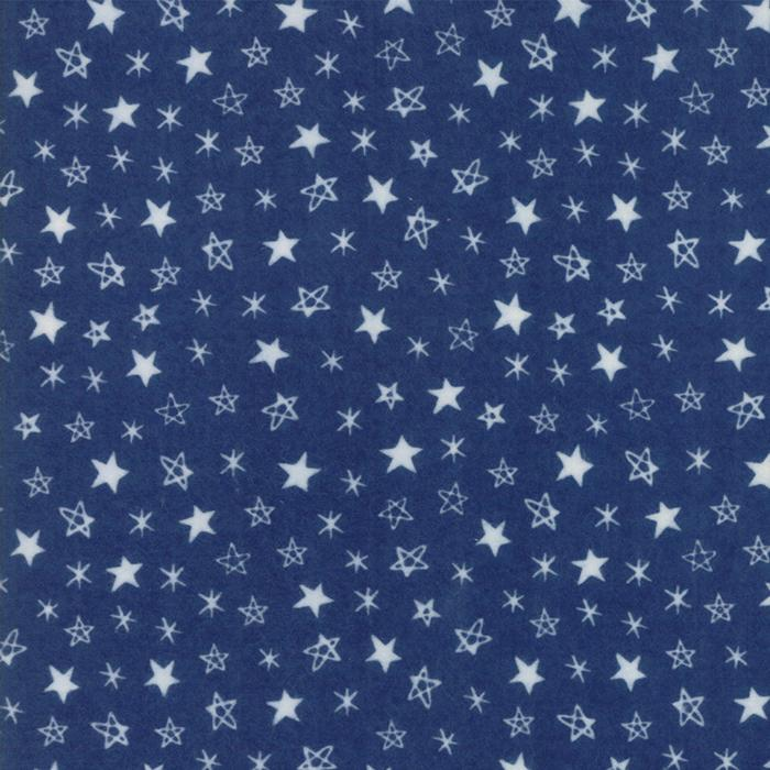 Soft & Sweet Flannel: Star Light Star Bright Dk Blue