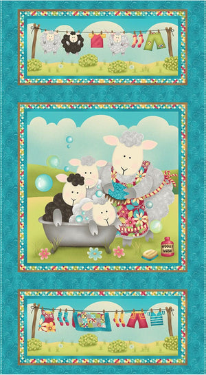 Splish Splash: Blue Sweet Mama Sheep Panel
