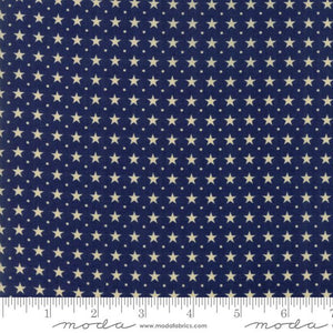 Star & Stripe Gatherings: Border Stars Dark Blue Ivory