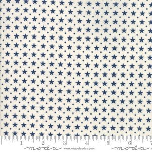 Star & Stripe Gatherings: Border Stars Ivory Dark Blue