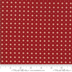 Star & Stripe Gatherings: Border Stars Red Tan