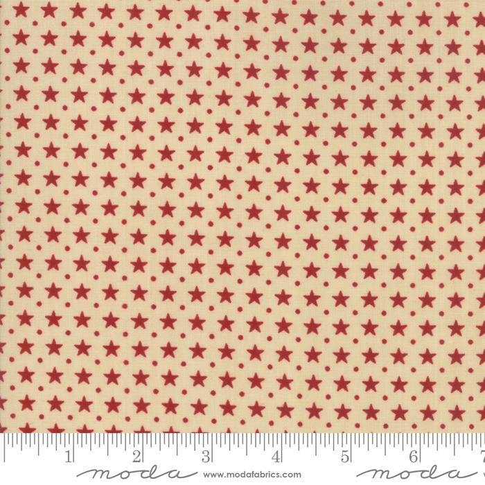 Star & Stripe Gatherings: Border Stars Tan Red