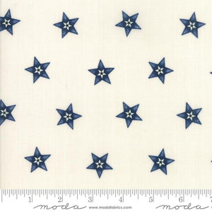 Star & Stripe Gatherings: Star In A Star Ivory Dark Blue