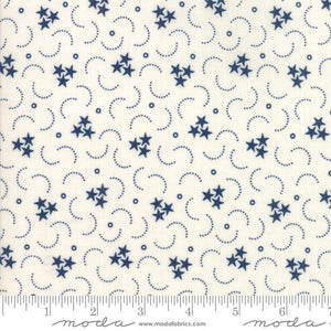 Star & Stripe Gatherings: Triple Star Ivory Dark Blue