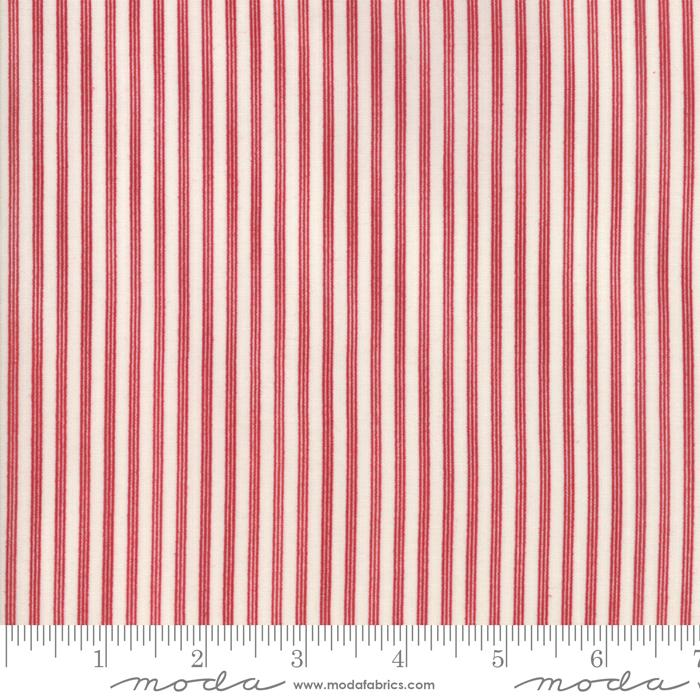 Star & Stripe Gatherings: Triple Stripe Ivory Red