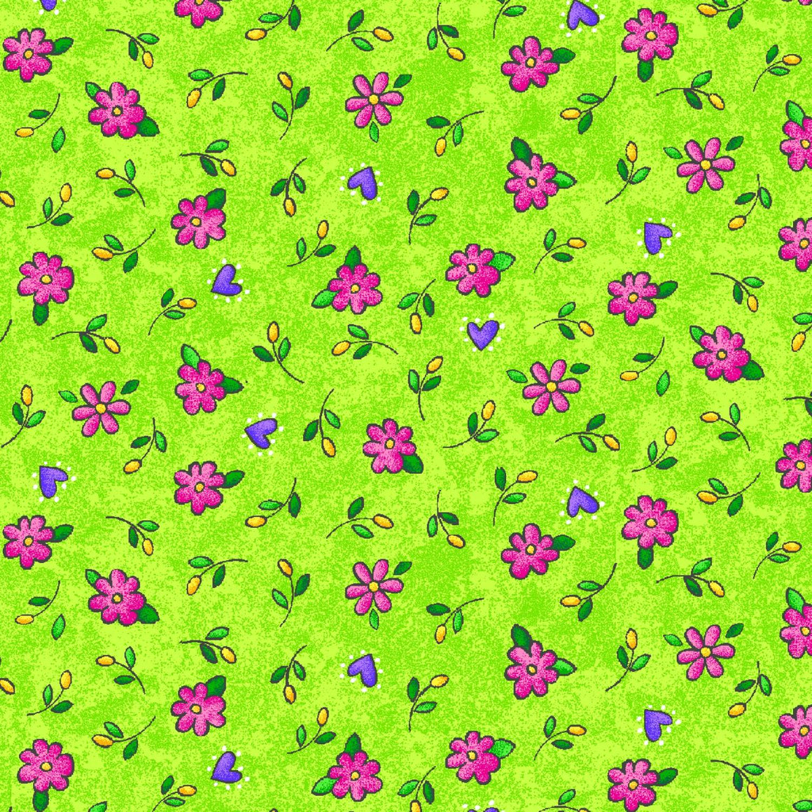 Sunny Days Floral Allover Green