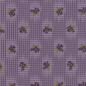 Sweet Violet: Gingham Floral Violet Purple