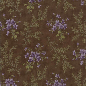Sweet Violet: Violet Ferns Earth Brown