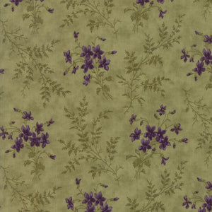 Sweet Violet: Violet Ferns Leaf Light Green