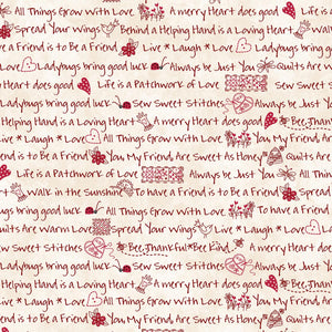 The Little Things: Little Sentiments Natural/Red