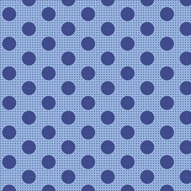 Tilda Medium Dots Denim Blue