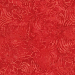 Tonga Poppy Shooting Stars Batik Cherry