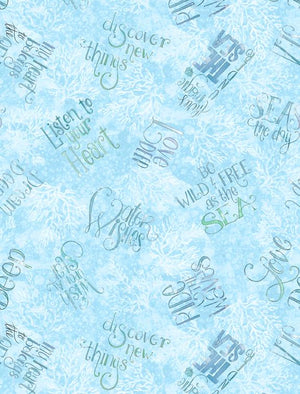 Water Wishes: Words All Over Blue