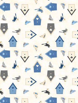 Welcome Winter! Birds & Birdhouses Ivory