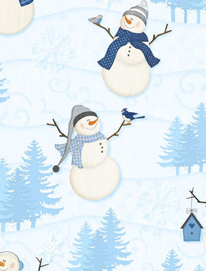 Welcome Winter! Scenic Light Blue