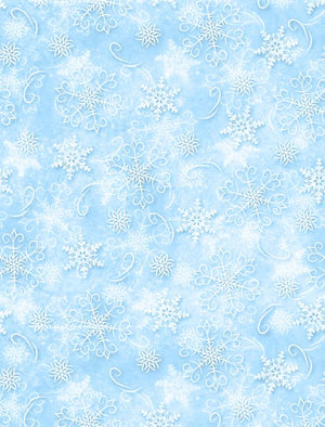Welcome Winter! Snowflakes Light Blue