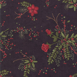 Winter Manor: Christmas Manor Floral Ebony