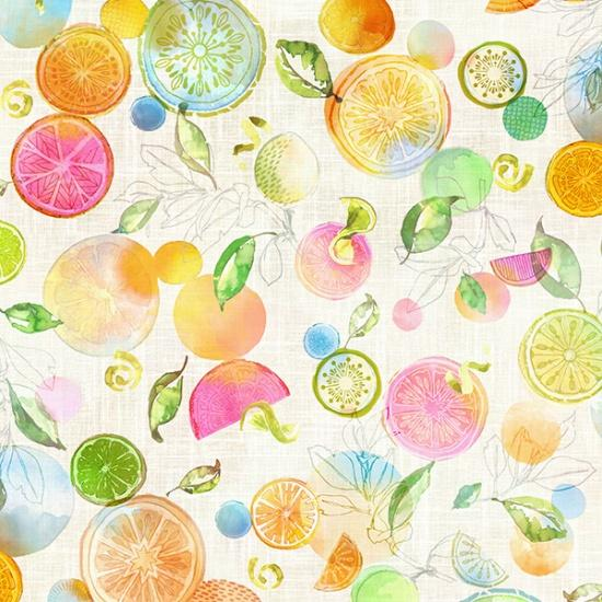 With A Twist Spectrum Print Citrus Fruit