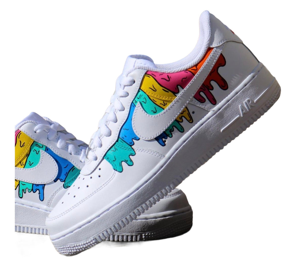 "Custom Nike Airforce 1 ""Canvas Drip"""