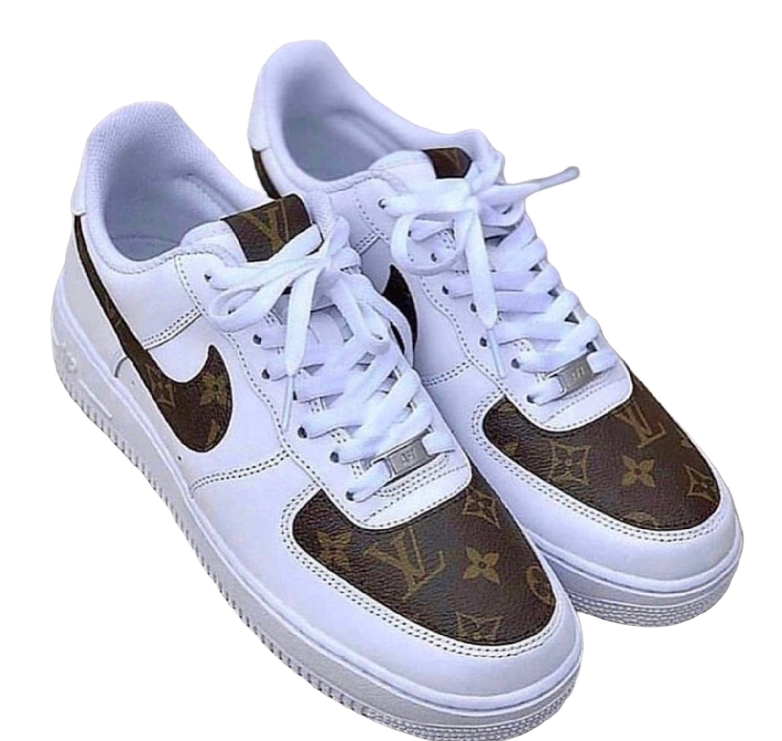 Custom Nike Airforce 1 x LV Leather